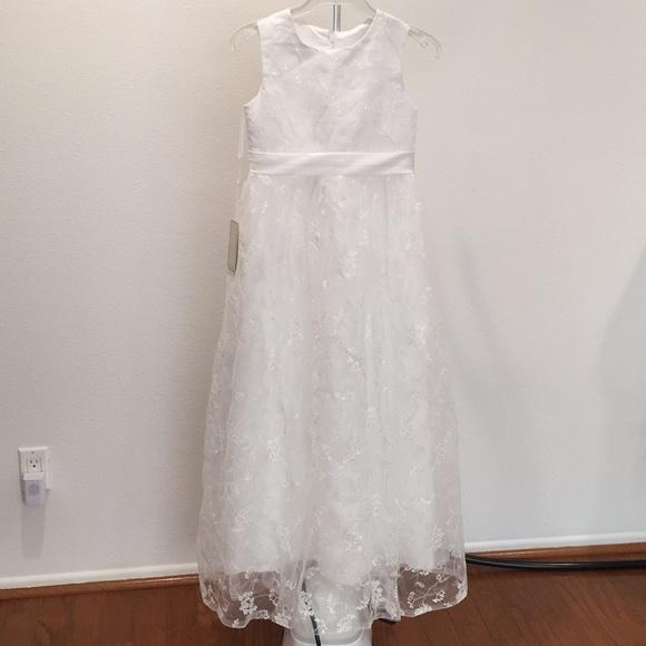 7e3de820f69 Big girls communion flower girl dress white 10-11